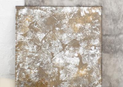 Silver eglomise
